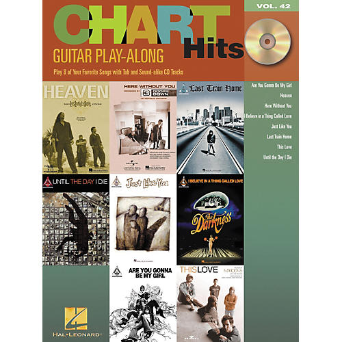 Hal Leonard Chart Hits Guitar Play-Along Series Volume 42 Book with CD
