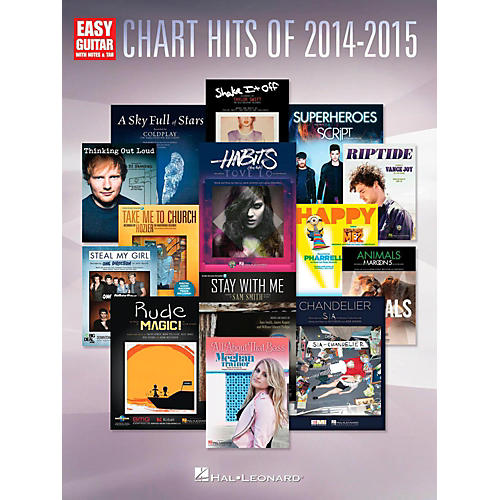 Hal Leonard Chart Hits of 2014-2015 Easy Guitar with Tab