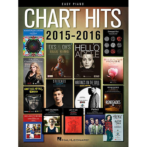 Hal Leonard Chart Hits of 2015-2016 for Easy Piano