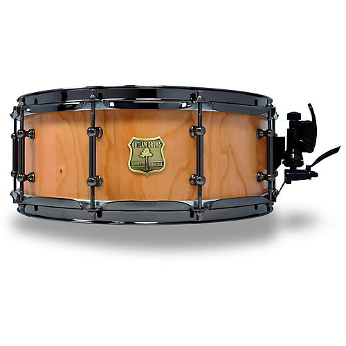 outlaw drums cherry stave snare drum with black chrome hardware 14 x 5 5 in natural guitar center. Black Bedroom Furniture Sets. Home Design Ideas