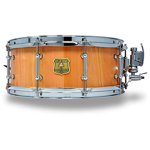OUTLAW DRUMS Cherry Stave Snare Drum with Chrome Hardware-thumbnail