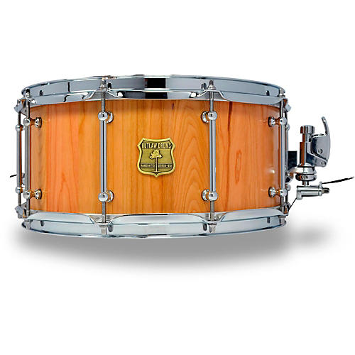 OUTLAW DRUMS Cherry Stave Snare Drum with Chrome Hardware