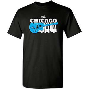 Guitar Center Chicago Guitar and Keyboard Graphic T-Shirt by Guitar Center