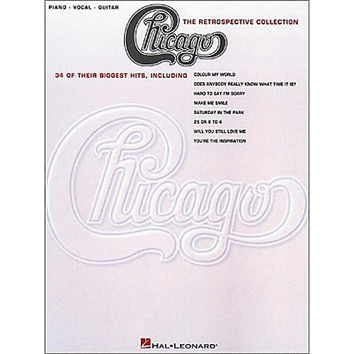 Hal Leonard Chicago the Retrospective Collection Piano, Vocal, Guitar Book-thumbnail