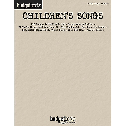Hal Leonard Children's Songs Piano, Vocal, Guitar Songbook