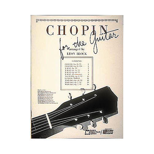 Edward B. Marks Music Company Chopin for Guitar Book-thumbnail