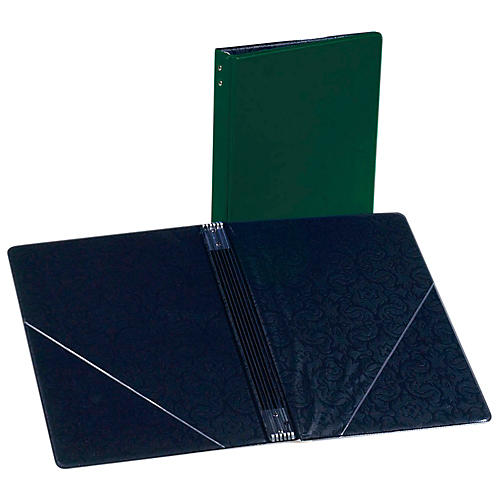 Marlo Plastics Choral Folder 7-3/4 x 11 With 7 Elastic Stays and 2 Clear, Flat, Diagonal Internal Pockets-thumbnail