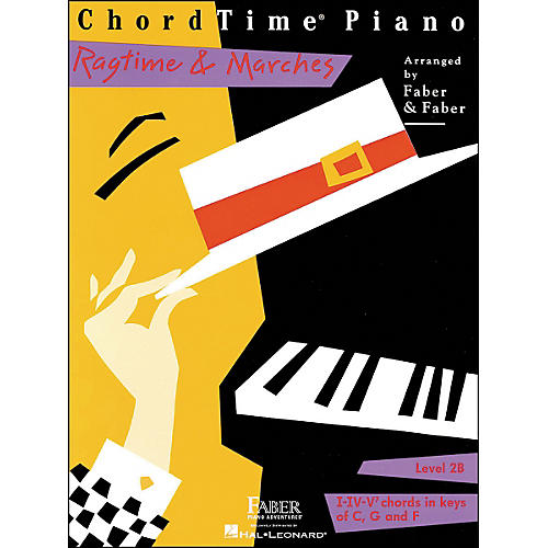 Faber Piano Adventures Chordtime Piano Ragtime & Marches Level 2B Book - Faber Piano