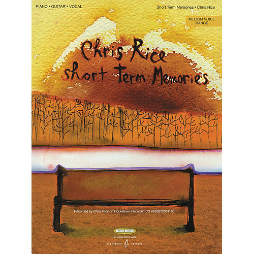 Word Music Chris Rice - Short Term Memories Piano/Vocal/Guitar Songbook