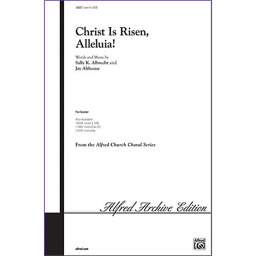 Alfred Christ Is Risen Alleluia! SATB