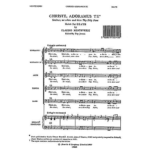 Novello Christe Adoramus SSATB Composed by Claudio Monteverdi Edited by Roy Jesson
