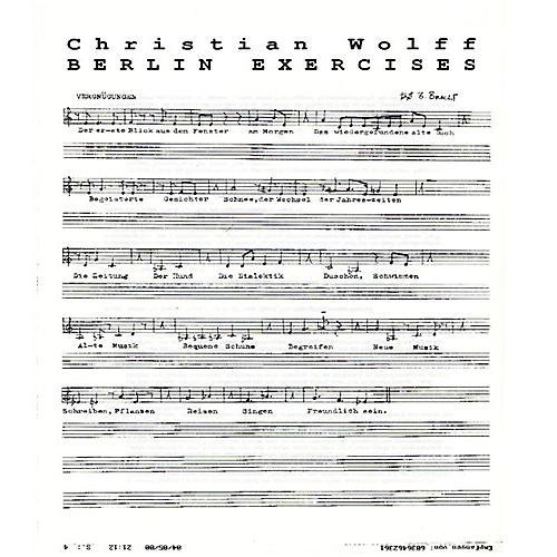 Alliance Christian Wolff - Berlin Exercises