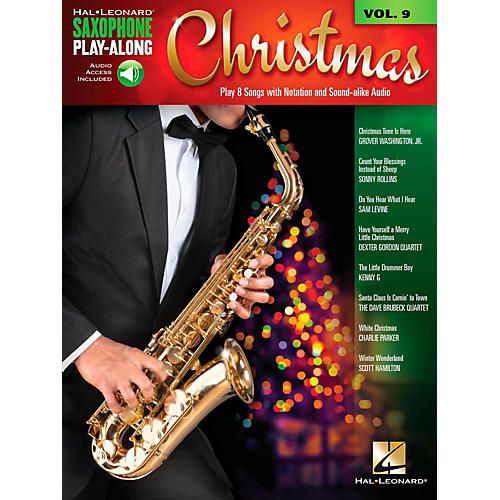Hal Leonard Christmas - Saxophone Play-Along Vol. 9 (Book/Audio On-line)-thumbnail