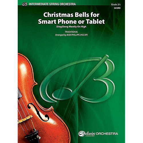 Alfred Christmas Bells for Smart Phone or Tablet String Orchestra Grade 2.5 Set-thumbnail