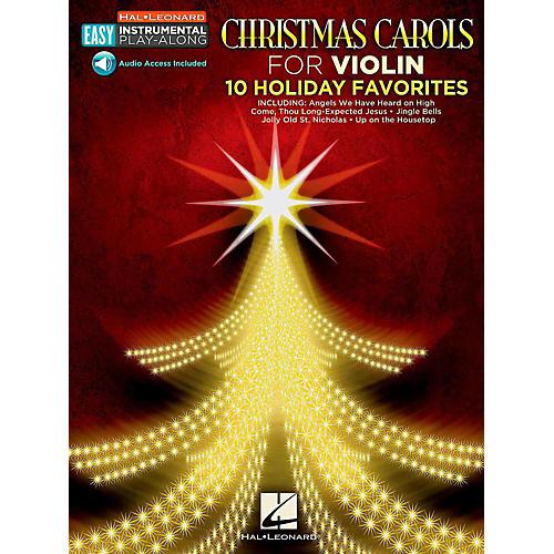 Hal Leonard Christmas Carols - Violin - Easy Instrumental Play-Along (Audio Online)-thumbnail