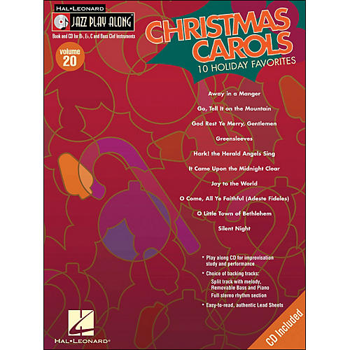 Hal Leonard Christmas Carols Jaxx Play-Along Volume 20 Book/CD