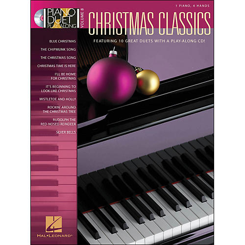Hal Leonard Christmas Classics Volume 8 Book/CD 1 Piano, 4 Hands