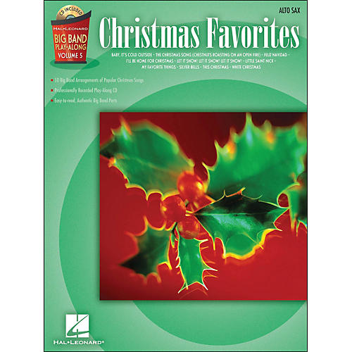 Hal Leonard Christmas Favorites Big Band Play-Along Vol. 5 Alto Sax Book/CD