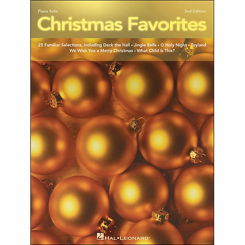 Hal Leonard Christmas Favorites Intermediate 2nd Edition Piano Solos-thumbnail