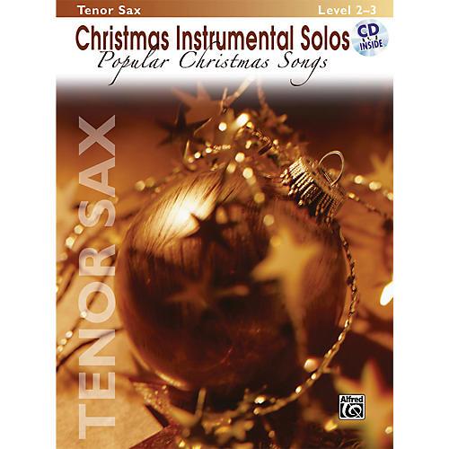 Alfred Christmas Instrumental Solos Popular Christmas Songs Tenor Sax Book & CD