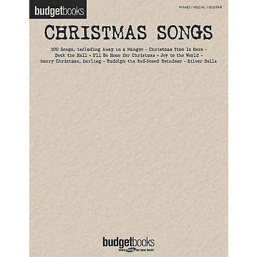 Hal Leonard Christmas Songs Budget Piano, Vocal, Guitar Songbook-thumbnail