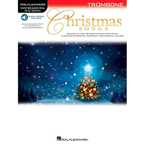 Hal Leonard Christmas Songs For Trombone - Instrumental Play-Along (Book/Audio On-Line)-thumbnail