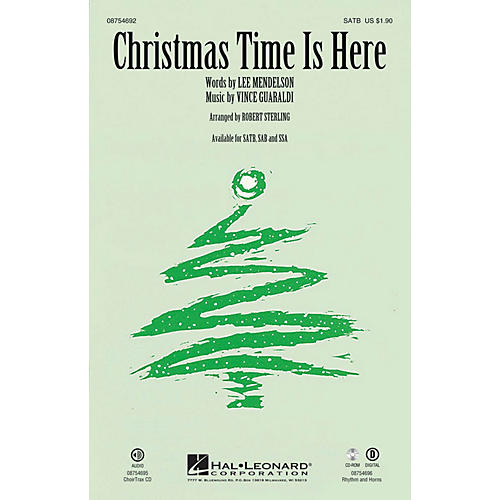 Hal Leonard Christmas Time Is Here CHOIRTRAX CD Arranged by Robert Sterling