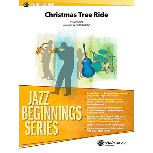 Alfred Christmas Tree Ride Jazz Band Grade 1-thumbnail