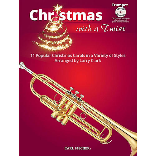 Carl Fischer Christmas With A Twist Book with CD - Trumpet-thumbnail