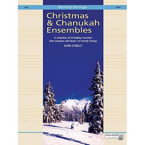 Alfred Christmas and Chanukah Ensembles Viola-thumbnail