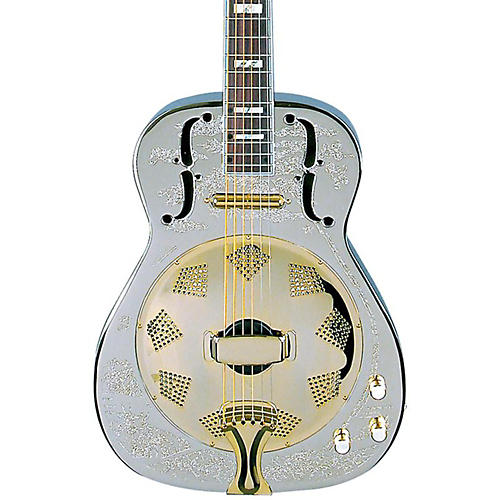 Dean Chrome G Acoustic-Electric Resonator Guitar Chrome/Gold-thumbnail