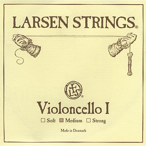 Larsen Strings Chromesteel Series Cello Strings A, Chromesteel, Medium