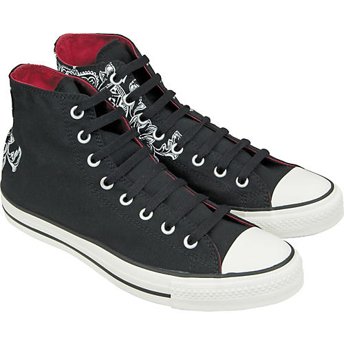 Converse Chuck Taylor All Star Crest Print Hi-Top Sneakers (Black) Size 10