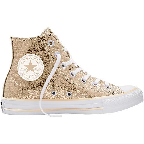 Converse Chuck Taylor All Star Stingray Metallic Hi Top Light Gold (Women's) 7.5