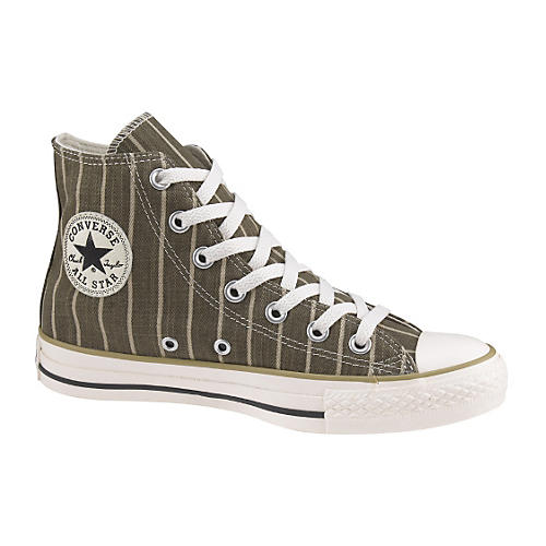 Converse Chuck Taylor All Star Strip Hi-Top Sneakers (Olive/White)