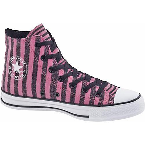 Converse Chuck Taylor All Stars Striped Tee Shirt Hi-Tops-thumbnail
