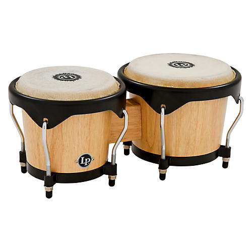 LP City Bongos Natural Wood