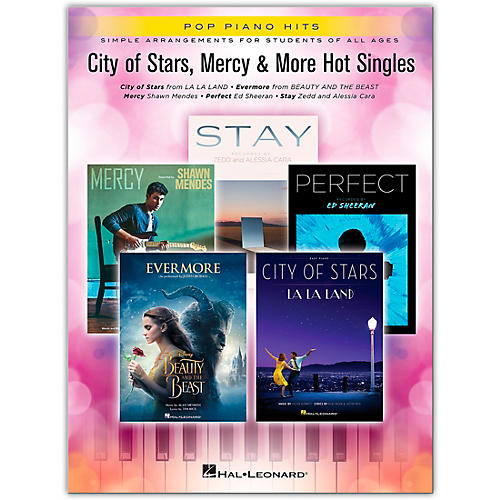 Hal Leonard City of Stars, Mercy & More Hot Singles Pop Piano Hits Series Softcover Performed by Various