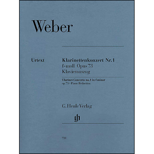 G. Henle Verlag Clarinet Concerto No. 1 in F minor, Op. 73 By Weber-thumbnail