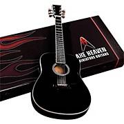Axe Heaven Classic Black Finish Acoustic Miniature Guitar Replica Collectible