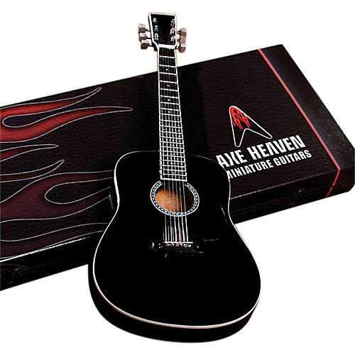 Axe Heaven Classic Black Finish Acoustic Miniature Guitar Replica Collectible-thumbnail