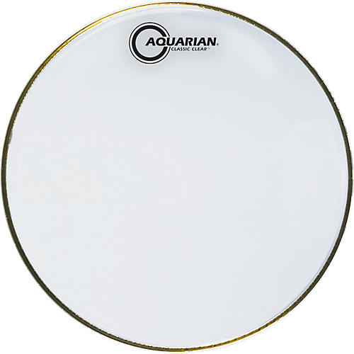 Aquarian Classic Clear Drumhead Black 13 in.