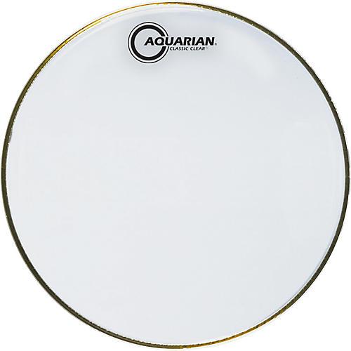 Aquarian Classic Clear Drumhead Black 15 in.