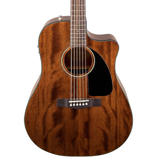 Fender Classic Design Series CD-60CE All-Mahogany Cutaway Dreadnought Acoustic-Electric Guitar-thumbnail