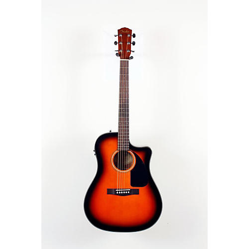 Fender Classic Design Series CD-60CE Cutaway Dreadnought Acoustic-Electric Guitar Sunburst 888365039015-thumbnail