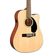 Fender Classic Design Series CD-60SCE-12 Cutaway Dreadnought 12-String Acoustic-Electric Guitar