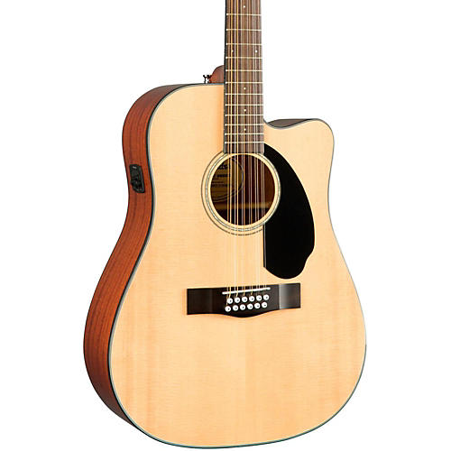 Fender Classic Design Series CD-60SCE-12 Cutaway Dreadnought 12-String Acoustic-Electric Guitar-thumbnail