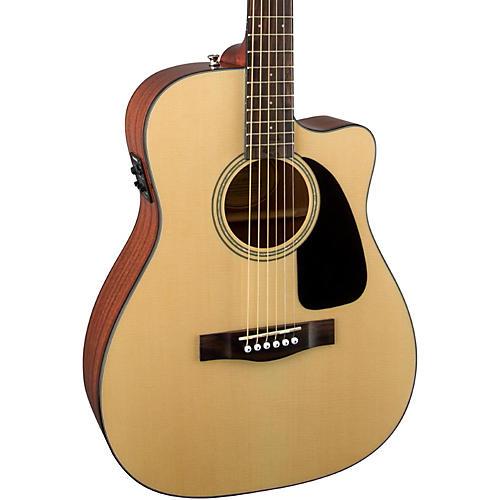Fender Classic Design Series CF-60CE Cutaway Folk Acoustic-Electric Guitar-thumbnail