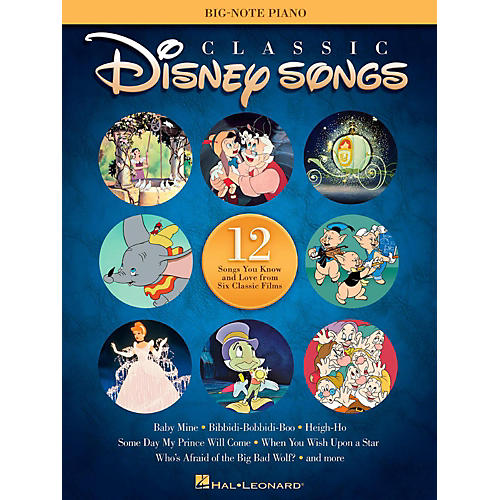Hal Leonard Classic Disney Songs for Big Note Piano