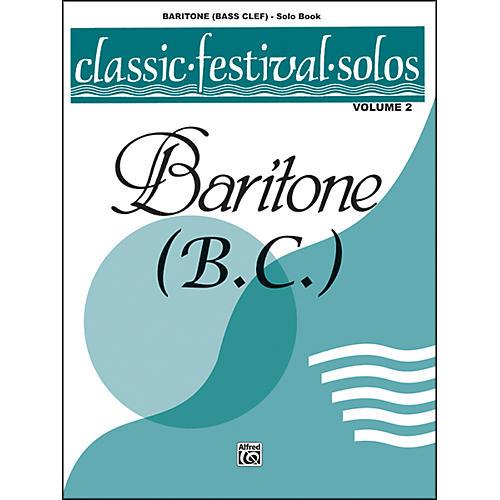 Alfred Classic Festival Solos (Baritone B.C.) Volume 2 Solo Book